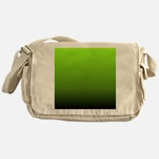ombre lime green Messenger Bag