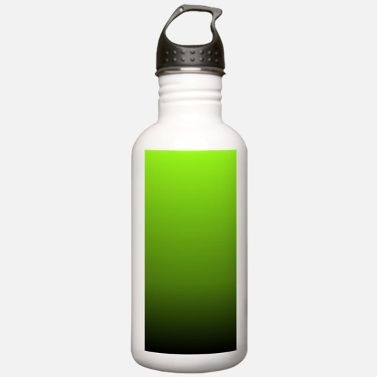 ombre lime green Water Bottle