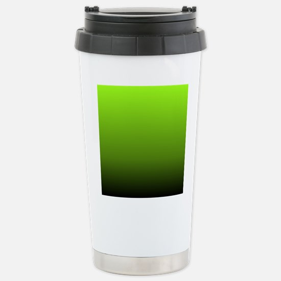 ombre lime green Stainless Steel Travel Mug
