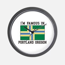 Famous In Portland Oregon Wall Clock