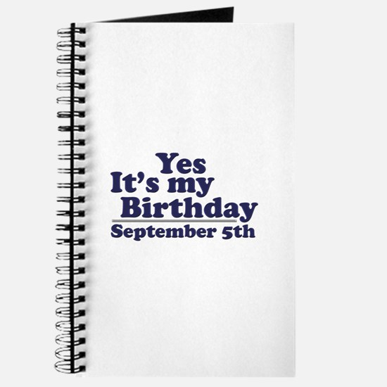 September 5th Birthday Journal