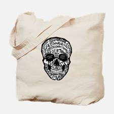 Radiology Terms Skull Tote Bag