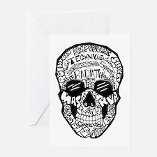 Radiology Terms Skull Greeting Card