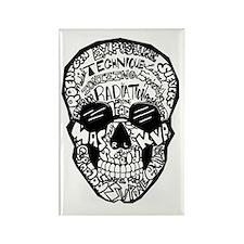 Radiology Terms Skull Rectangle Magnet