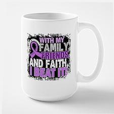 Cancer Survivor FamilyFriendsFaith Mug