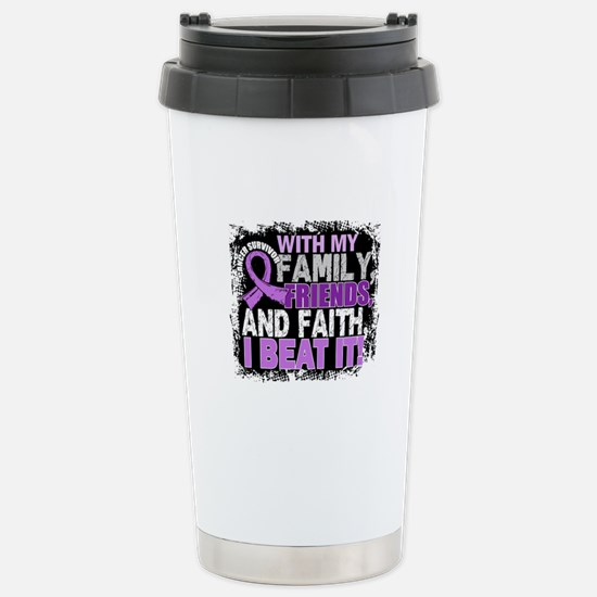 Cancer Survivor FamilyF Stainless Steel Travel Mug