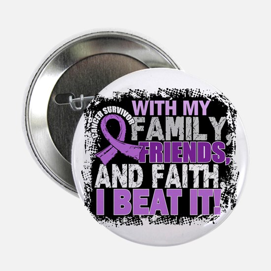 "Cancer Survivor FamilyFrien 2.25"" Button (10 pack)"