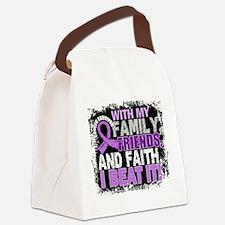 Cancer Survivor FamilyFriendsFait Canvas Lunch Bag