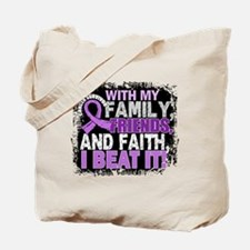 Cancer Survivor FamilyFriendsFaith Tote Bag