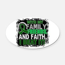Liver Cancer Survivor FamilyFriend Oval Car Magnet