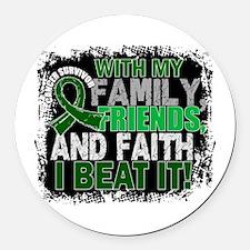 Liver Cancer Survivor FamilyFrien Round Car Magnet