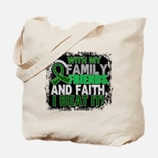 Liver Cancer Survivor FamilyFriendsFaith Tote Bag