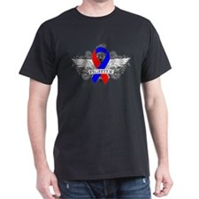 Congenital Heart Disease Fighter Wings T-Shirt