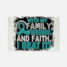 Gynecologic Cancer Survivor Famil Rectangle Magnet