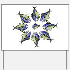 Tuna Star Pattern. Retro Tuna Fish RCM Yard Sign