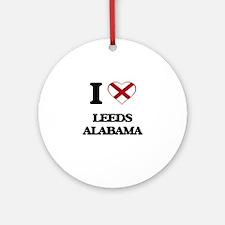 I love Leeds Alabama Ornament (Round)