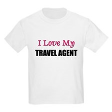I Love My TRAVEL AGENT T-Shirt