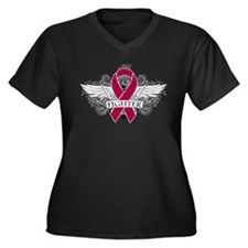 Brain Aneurysm Fighter Wings Plus Size T-Shirt