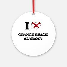 I love Orange Beach Alabama Ornament (Round)