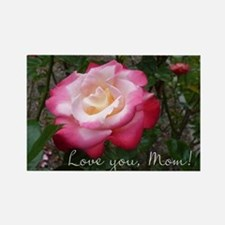 Love you Mom Rose Rectangle Magnet
