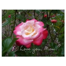 Love you Mom Rose Canvas Art