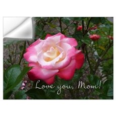 Love you Mom Rose Wall Decal
