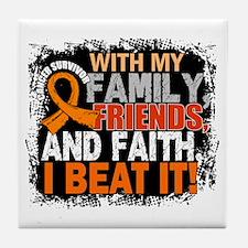 Kidney Cancer Survivor FamilyFriendsF Tile Coaster