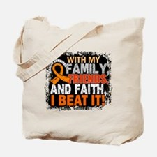 Kidney Cancer Survivor FamilyFriendsFaith Tote Bag