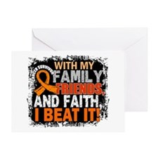 Leukemia Survivor FamilyFriendsFaith Greeting Card