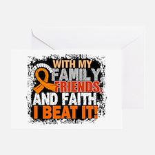 Leukemia Survivor FamilyFriendsFaith Greeting Card