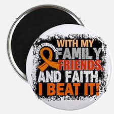 """Leukemia Survivor FamilyFr 2.25"""" Magnet (100 pack)"""