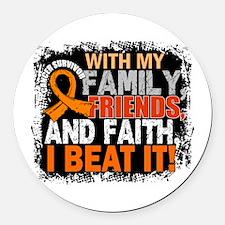 Leukemia Survivor FamilyFriendsFa Round Car Magnet