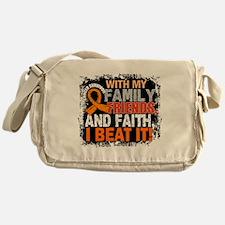 Leukemia Survivor FamilyFriendsFaith Messenger Bag
