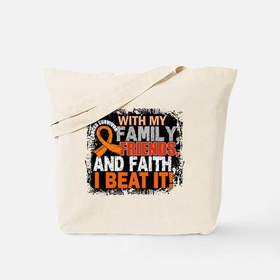 Leukemia Survivor FamilyFriendsFaith Tote Bag