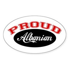 Proud Albanian Oval Decal