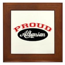 Proud Albanian Framed Tile