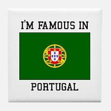President of Portugal Tile Coaster