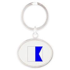 "ICS Flag Letter ""A"" Keychains"