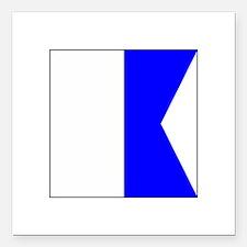 "ICS Flag Letter ""A"" Square Car Magnet 3"""