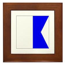 "ICS Flag Letter ""A"" Framed Tile"