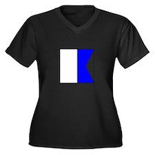 """ICS Flag Letter """"A"""" Plus Size T-Shirt"""
