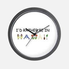 """I'd Rather Be in Hawaii"" Wall Clock"