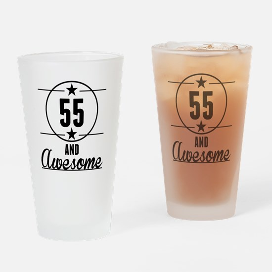 55 And Awesome Drinking Glass