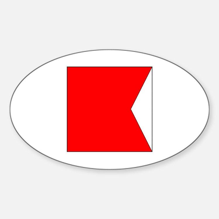 """ICS Flag Letter """"B"""" Decal"""