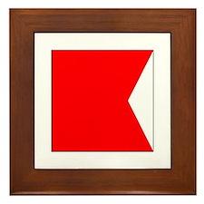 """ICS Flag Letter """"B"""" Framed Tile"""