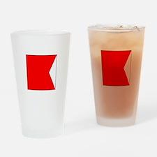 """ICS Flag Letter """"B"""" Drinking Glass"""