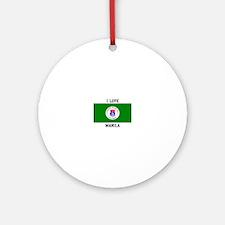 I Love Manila Ornament (Round)