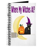 Witch on Broomstick Journal