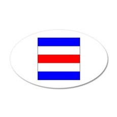"ICS Flag Letter ""C"" Wall Decal"
