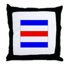 "ICS Flag Letter ""C"" Throw Pillow"